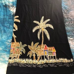 Long sarong, tie in front and front slit